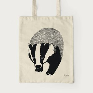 Badger Screen Print Cotton Tote Bag