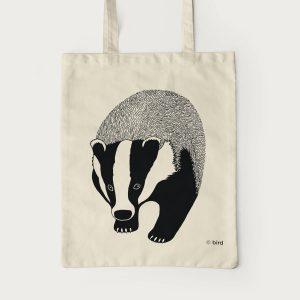 Badger Screen Print Cotton Tote Bag