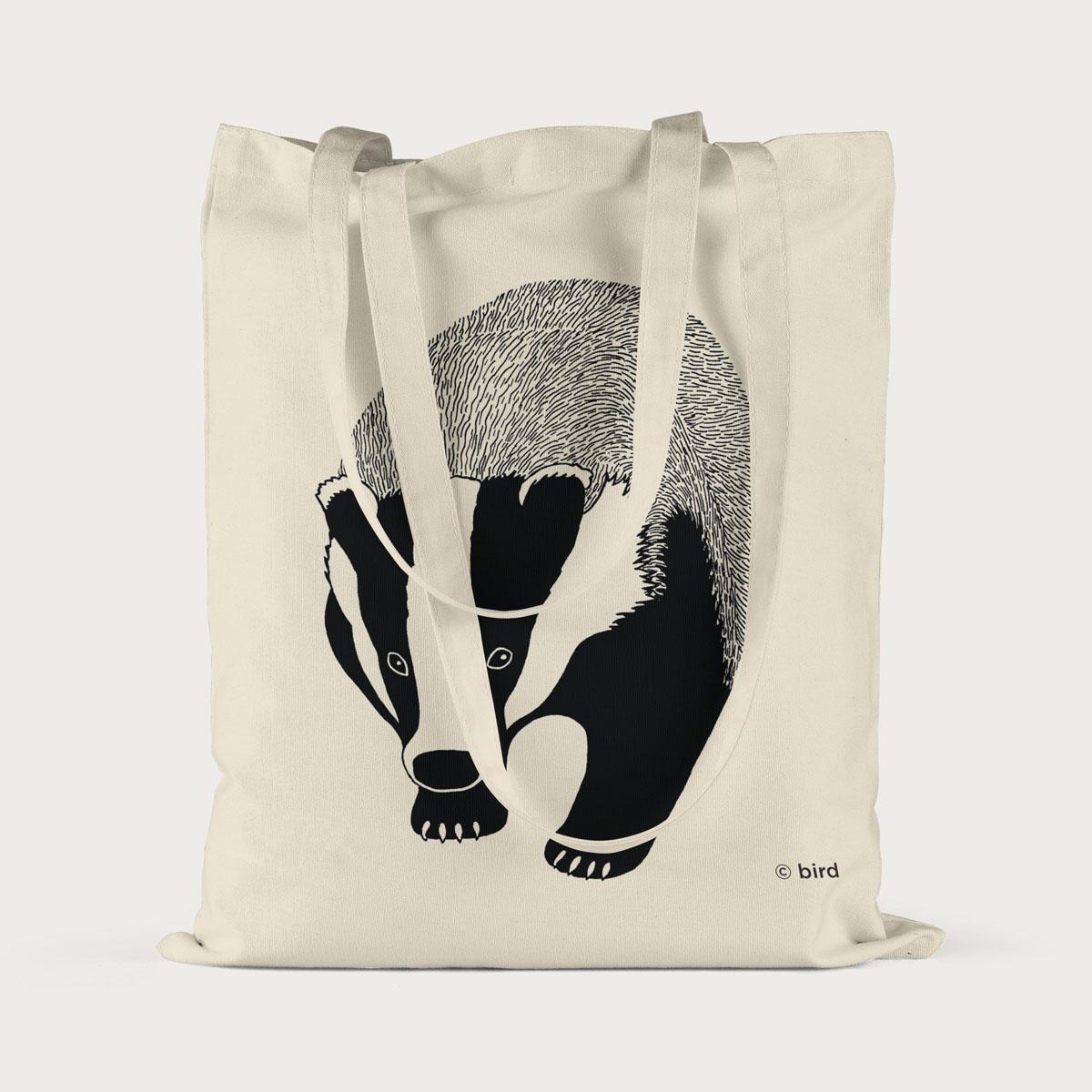Badger Screen Printed Cotton Tote Bag