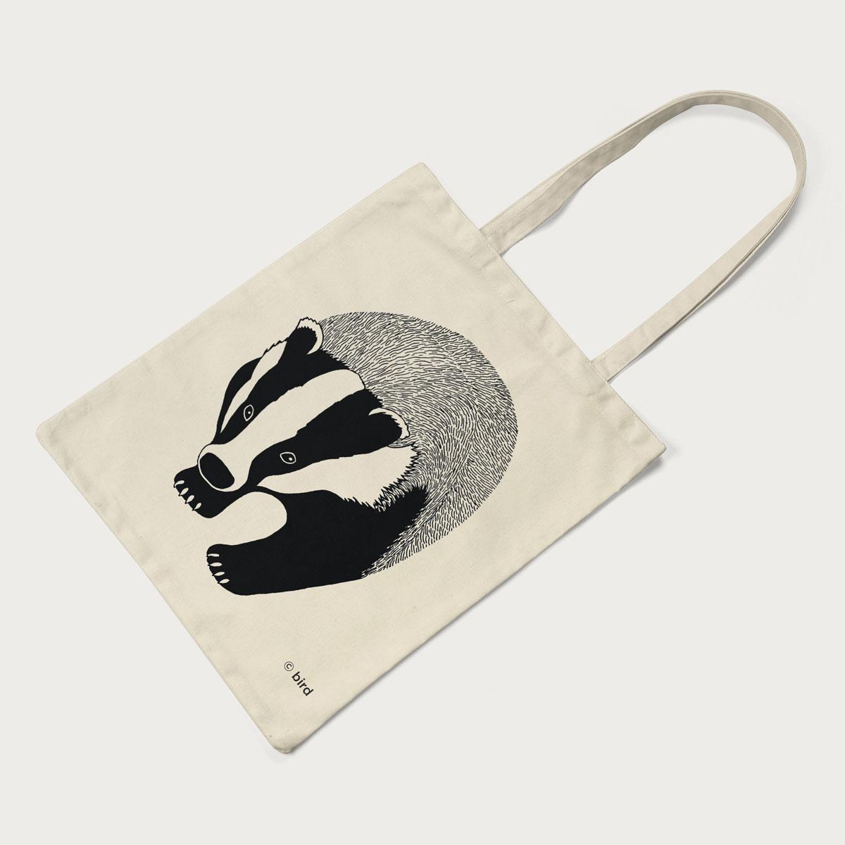 Badger Screen Printed Cotton Tote Bag Tote
