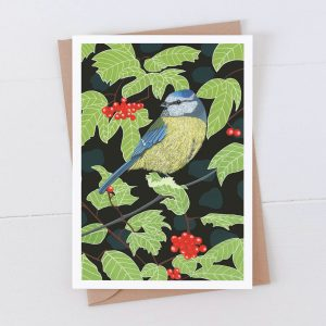 Blue Tit Garden Bird 7x5 Card