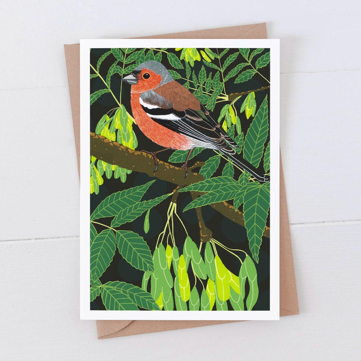 Chaffinch Garden Bird Greeting Card