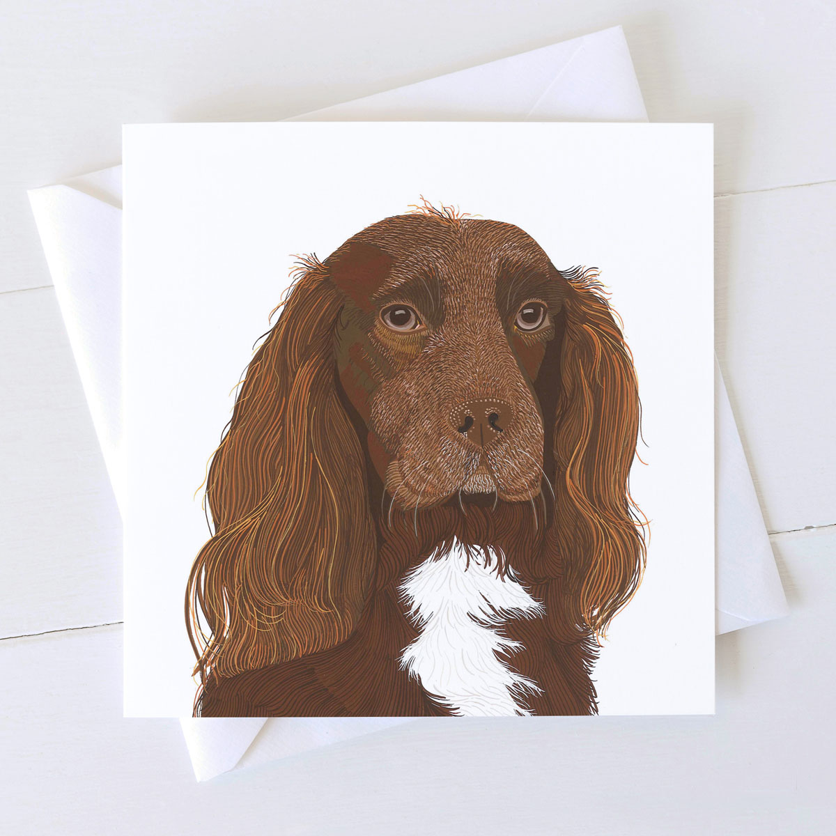Cocker Spaniel Dog Square Greeting Card