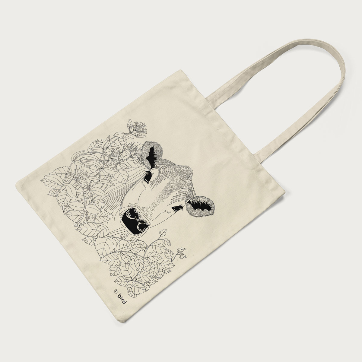 Cow Screen Printed Cotton Tote Bag