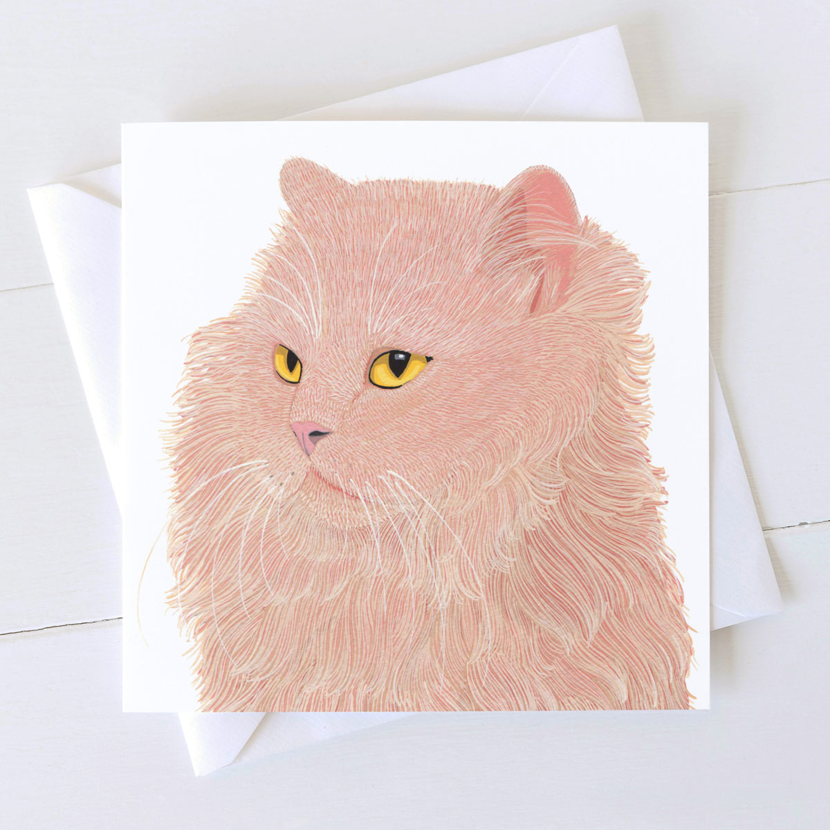 Fluff Cat Greeting Card