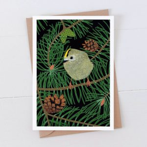 Goldcrest Garden Bird Greeting Card
