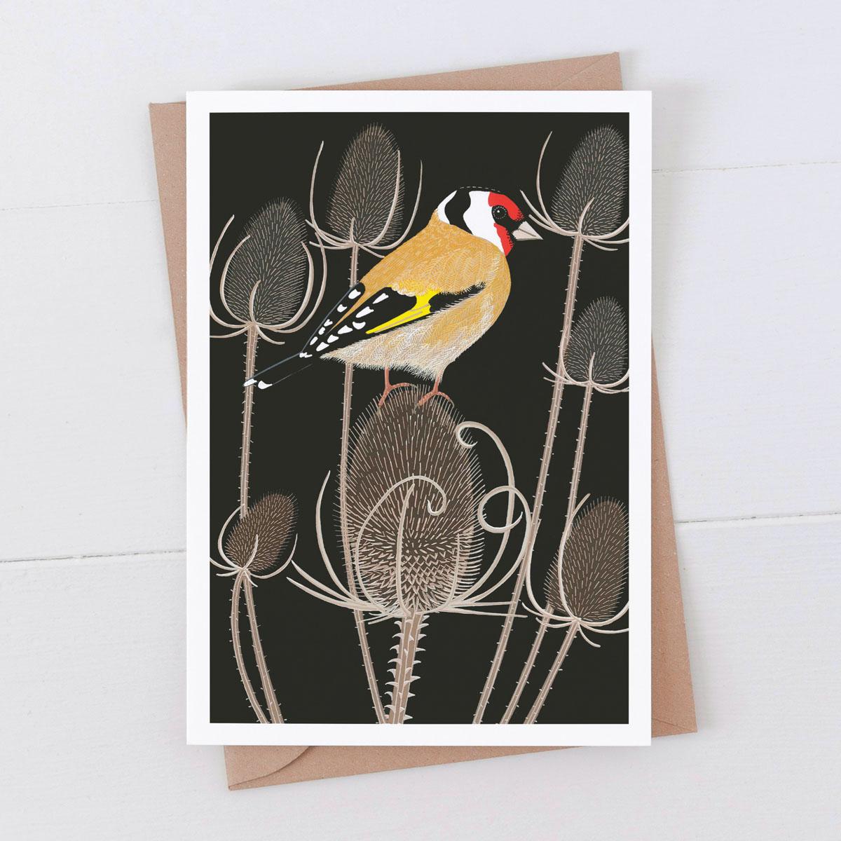 Goldfinch Garden Bird Greeting Card