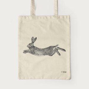 Hare Screen Printed Cotton Tote Bag