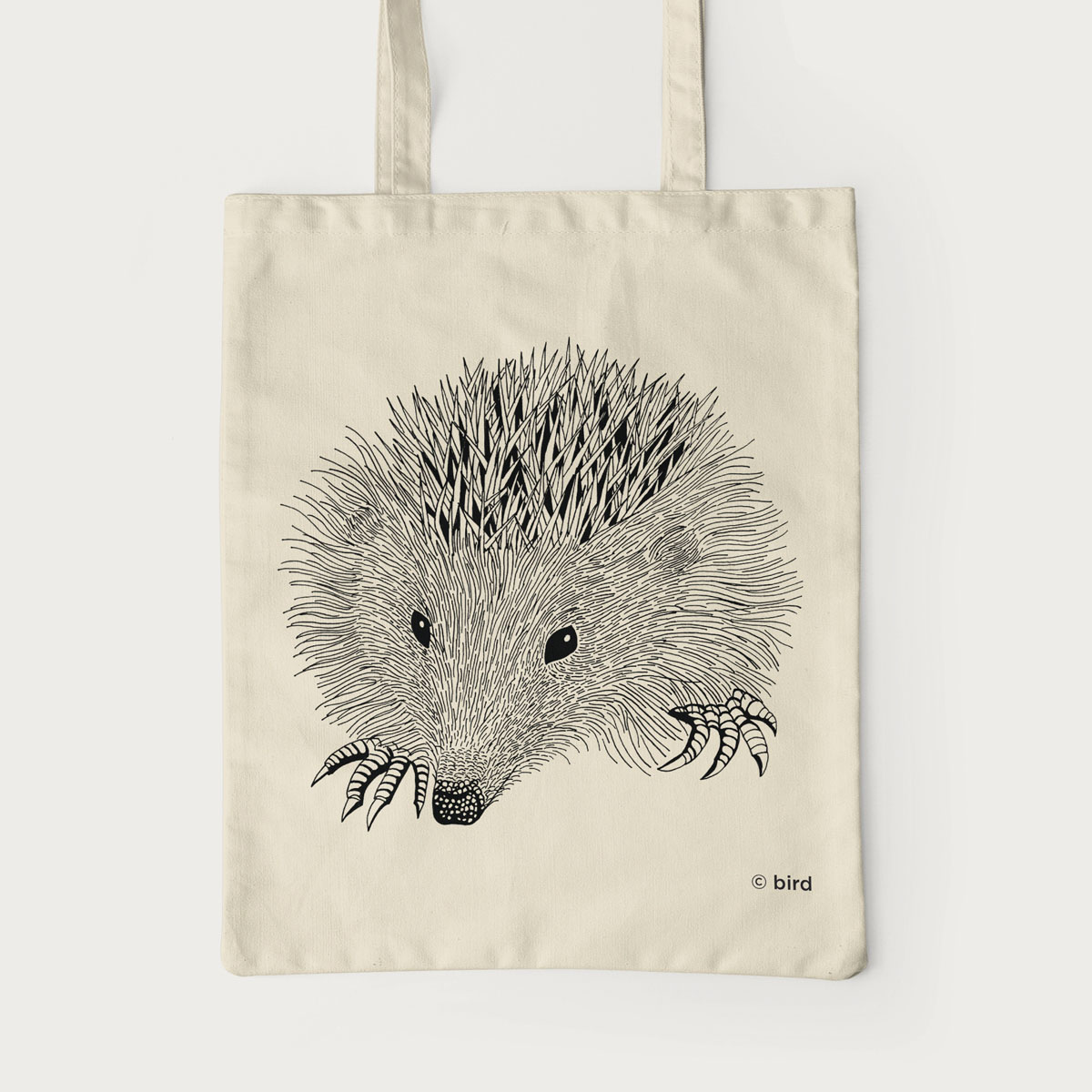 Hedgehog Screen Printed Cotton Tote Bag