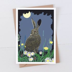 Night Hare Greeting Card