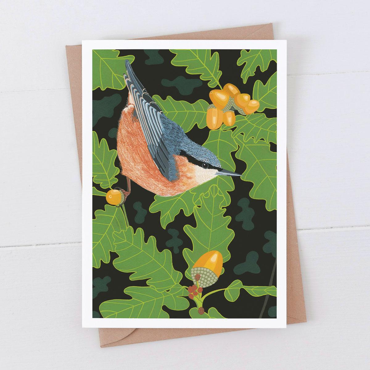 Nuthatch Garden Bird Greeting Card
