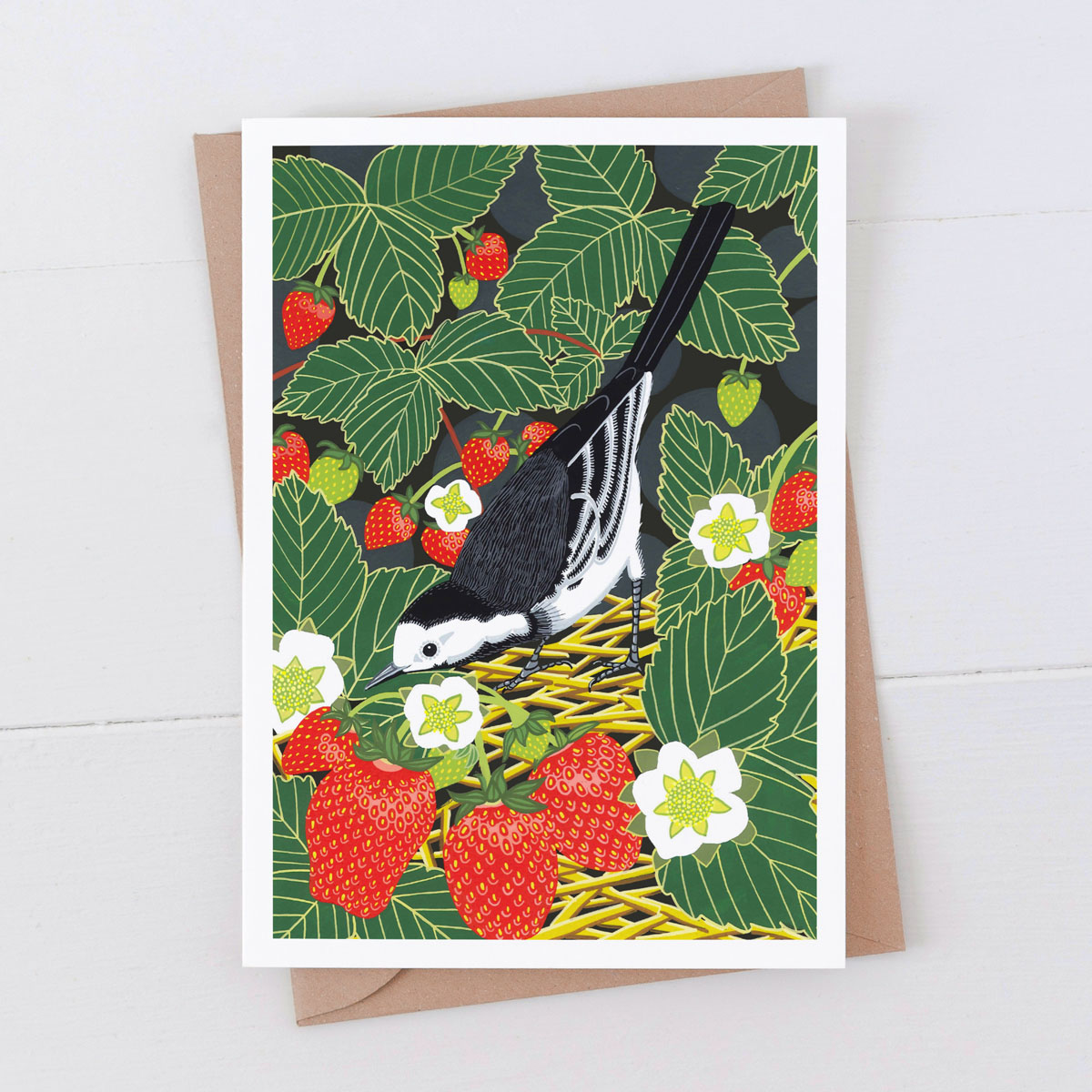Pied Wagtail Garden Bird Greeting Card
