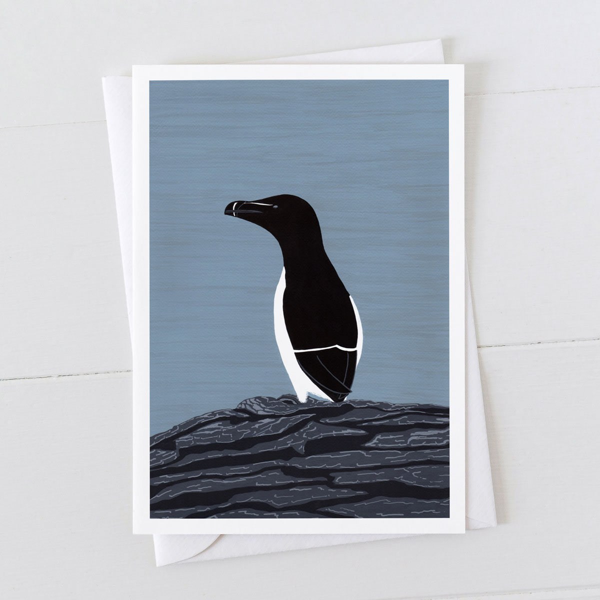 Razor Bill Coastal Greeting Card