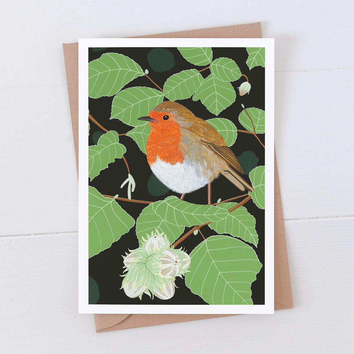 Robin Garden Bird Greeting Card