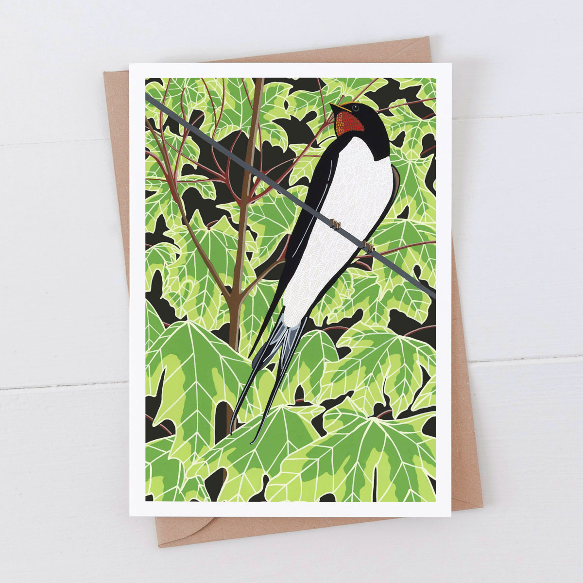 Swallow Garden Bird Greeting Card