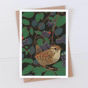 Wren Garden Bird Greeting Card