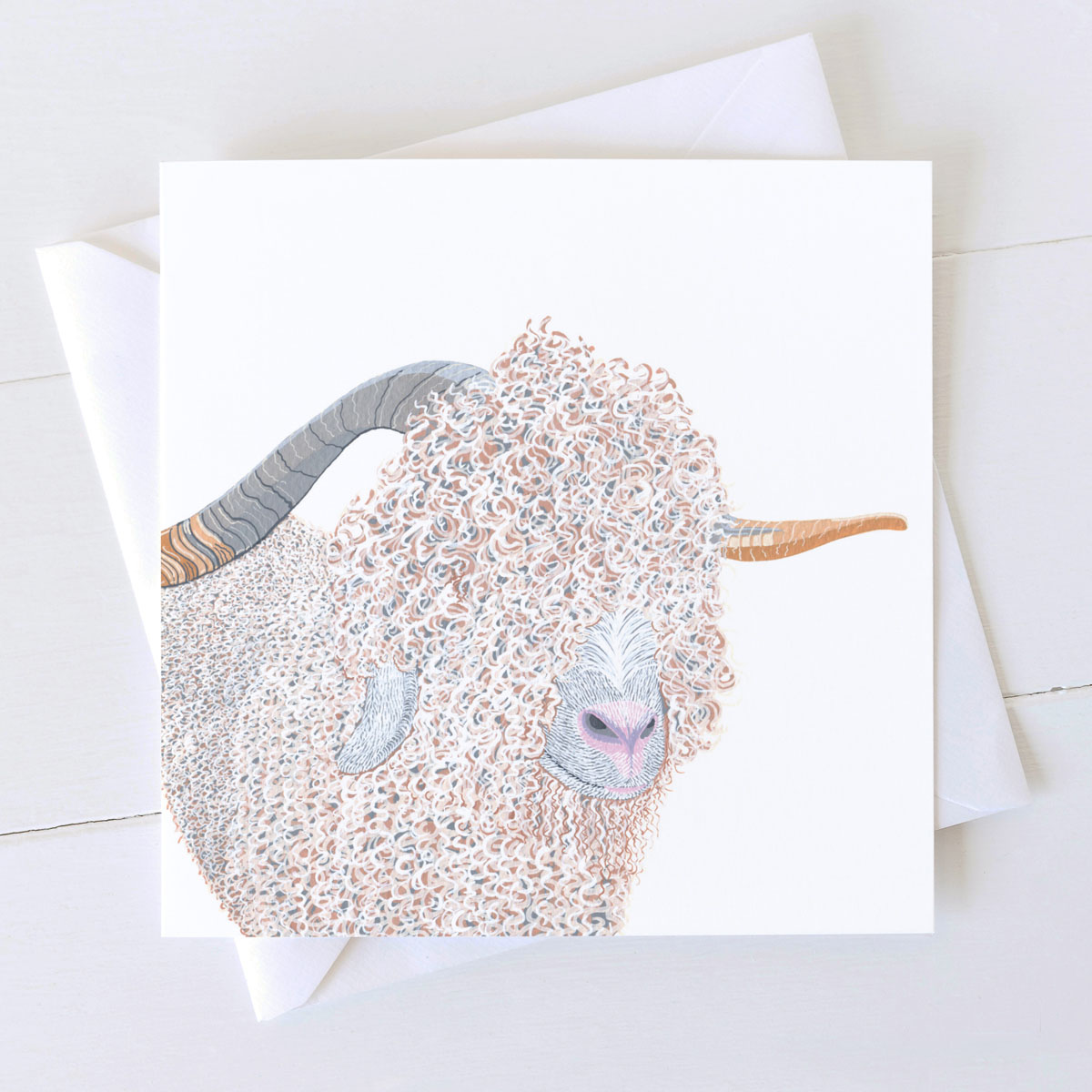Angora Goat Greeting card