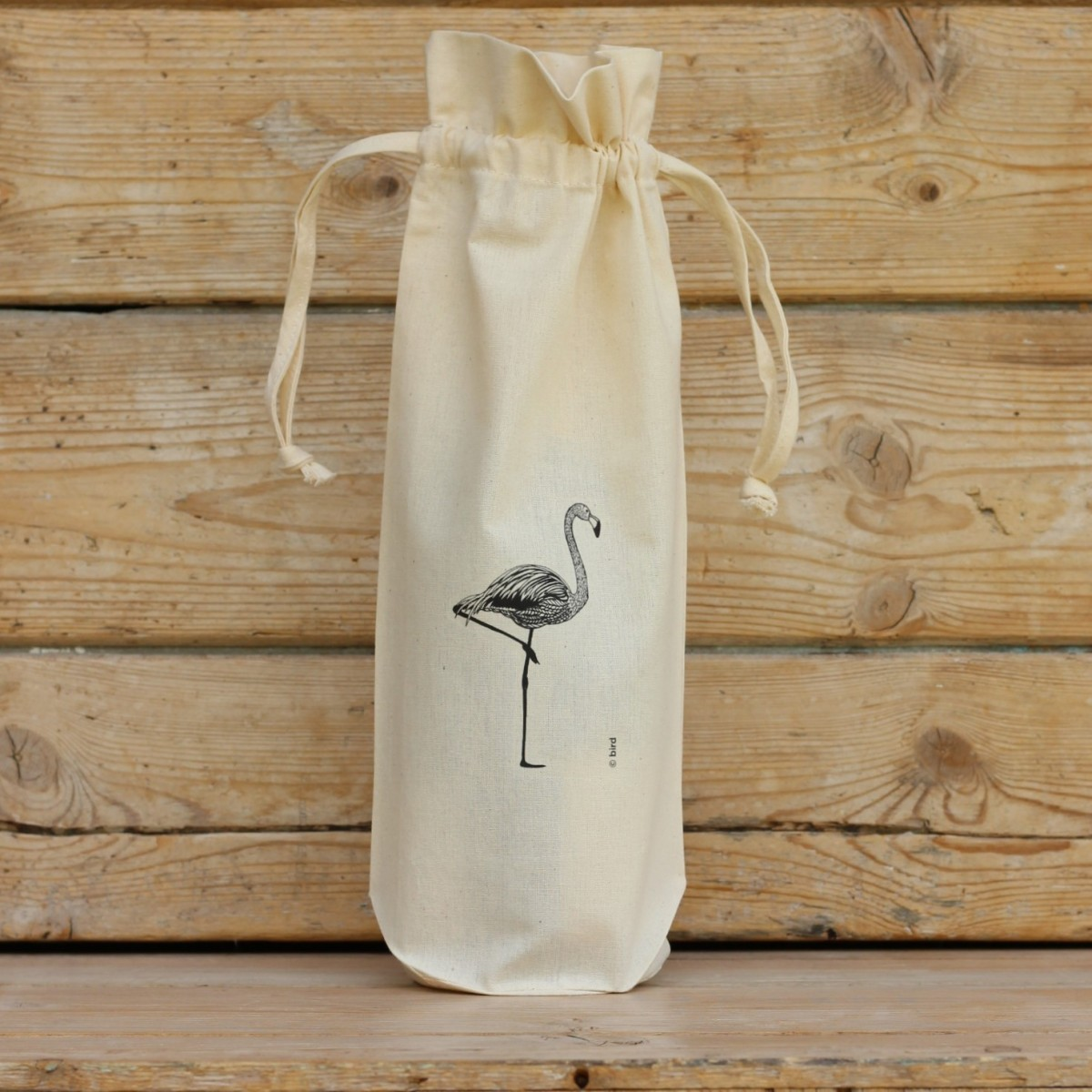 Flamingo Cotton Bottle Gift Bag