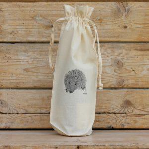 Hedgehog Cotton Bottle Gift Bag