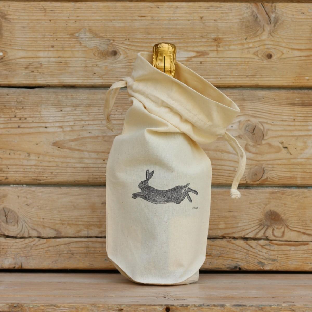 Hare Cotton Bottle Gift Bag