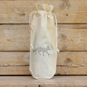 Fox Cotton Bottle Gift Bag