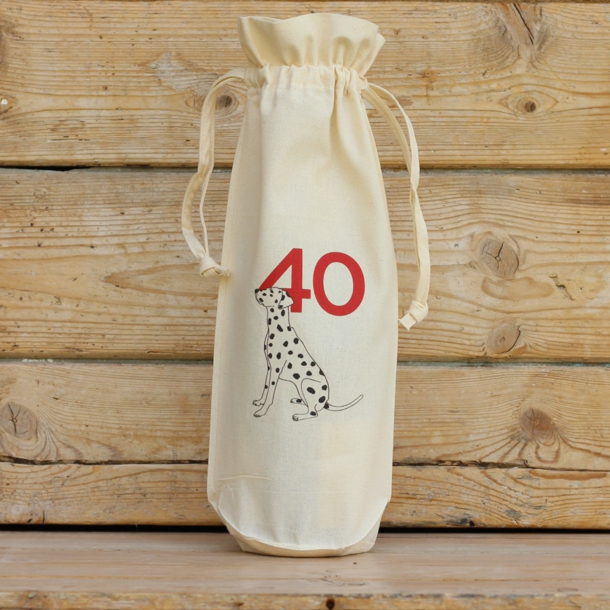 Age Forty Cotton Bottle Gift Bag