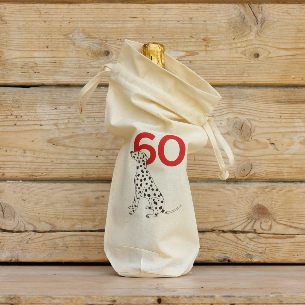 Age Sixty Cotton Bottle Gift Bag