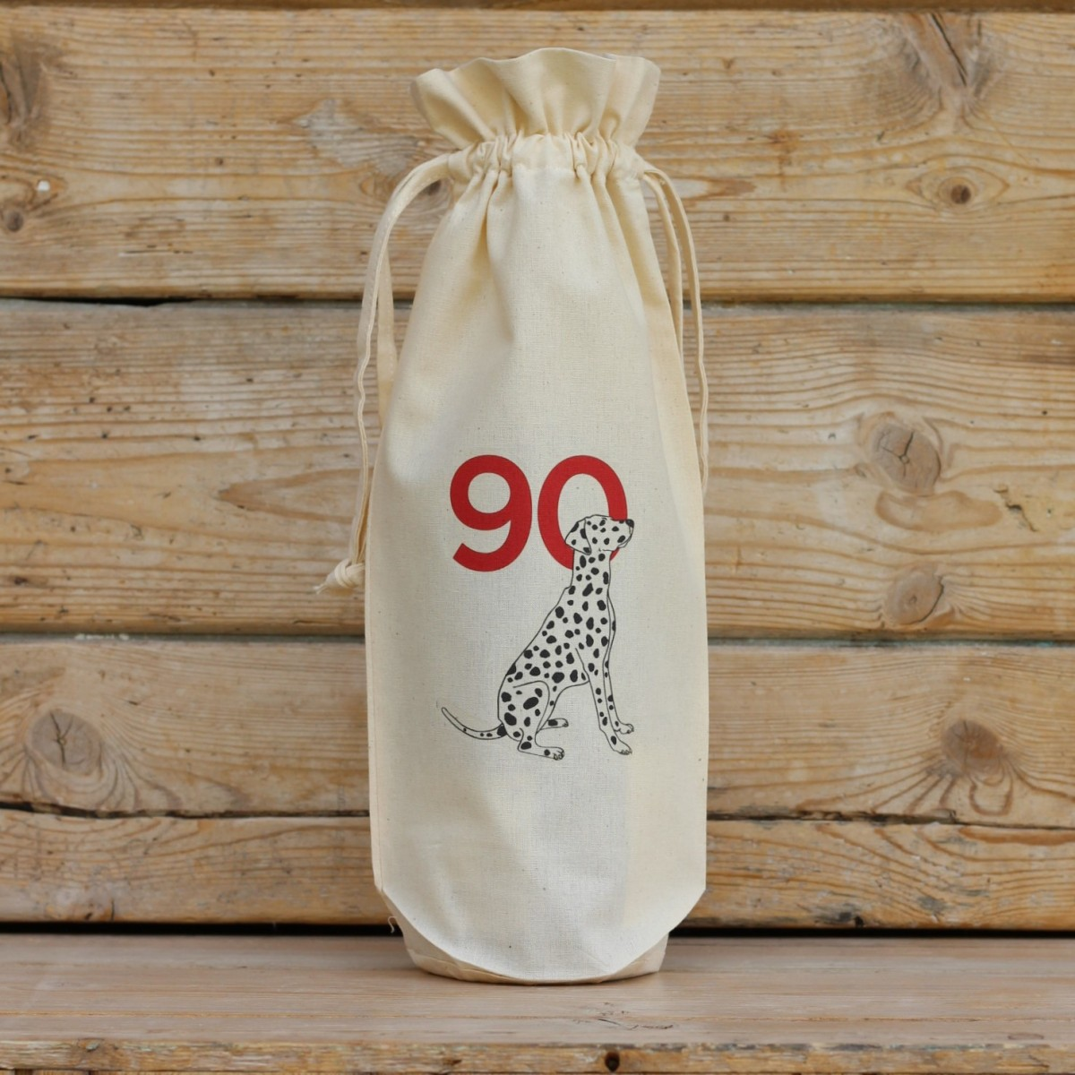 Age Ninety Cotton Bottle Gift Bag