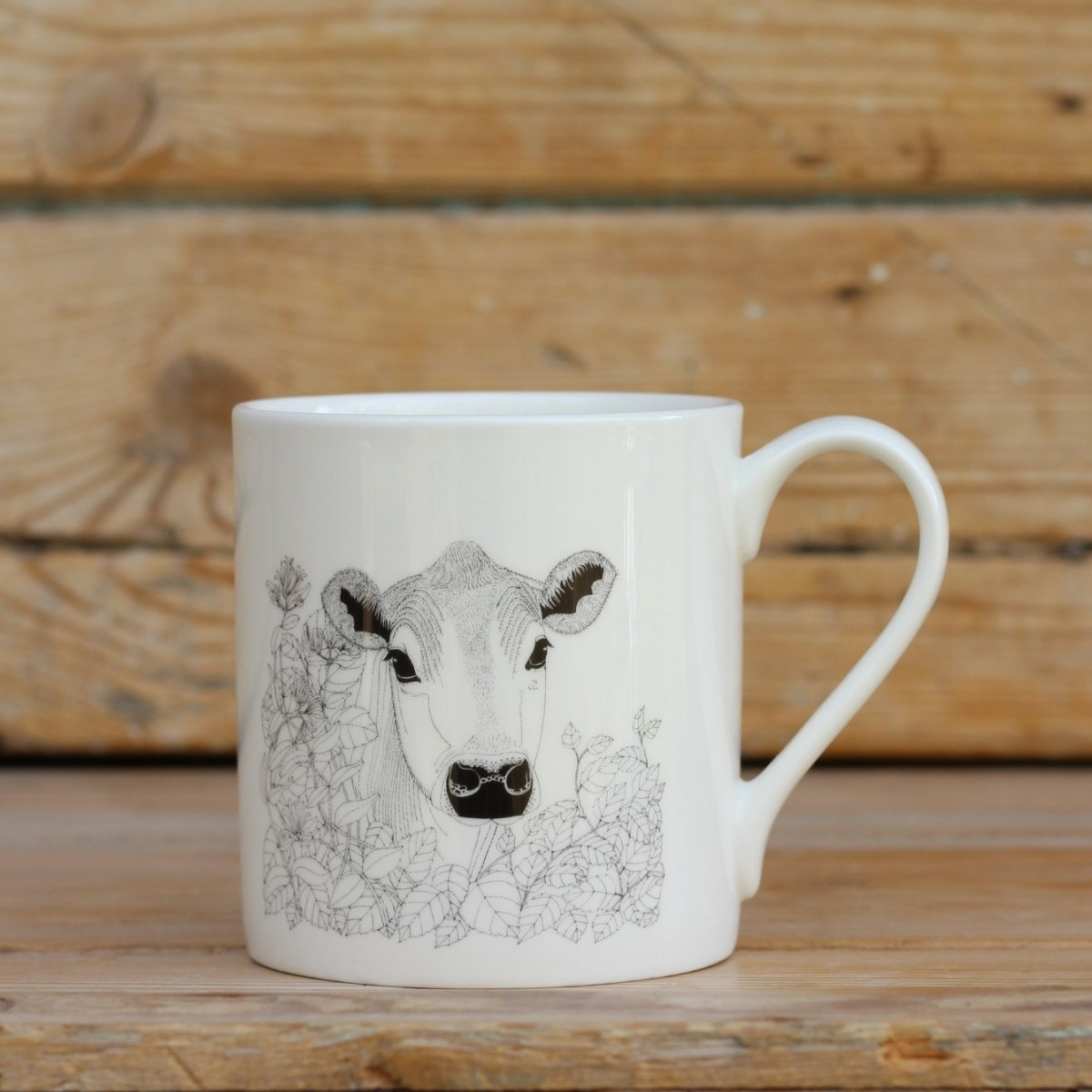 Cow Bone China Mug
