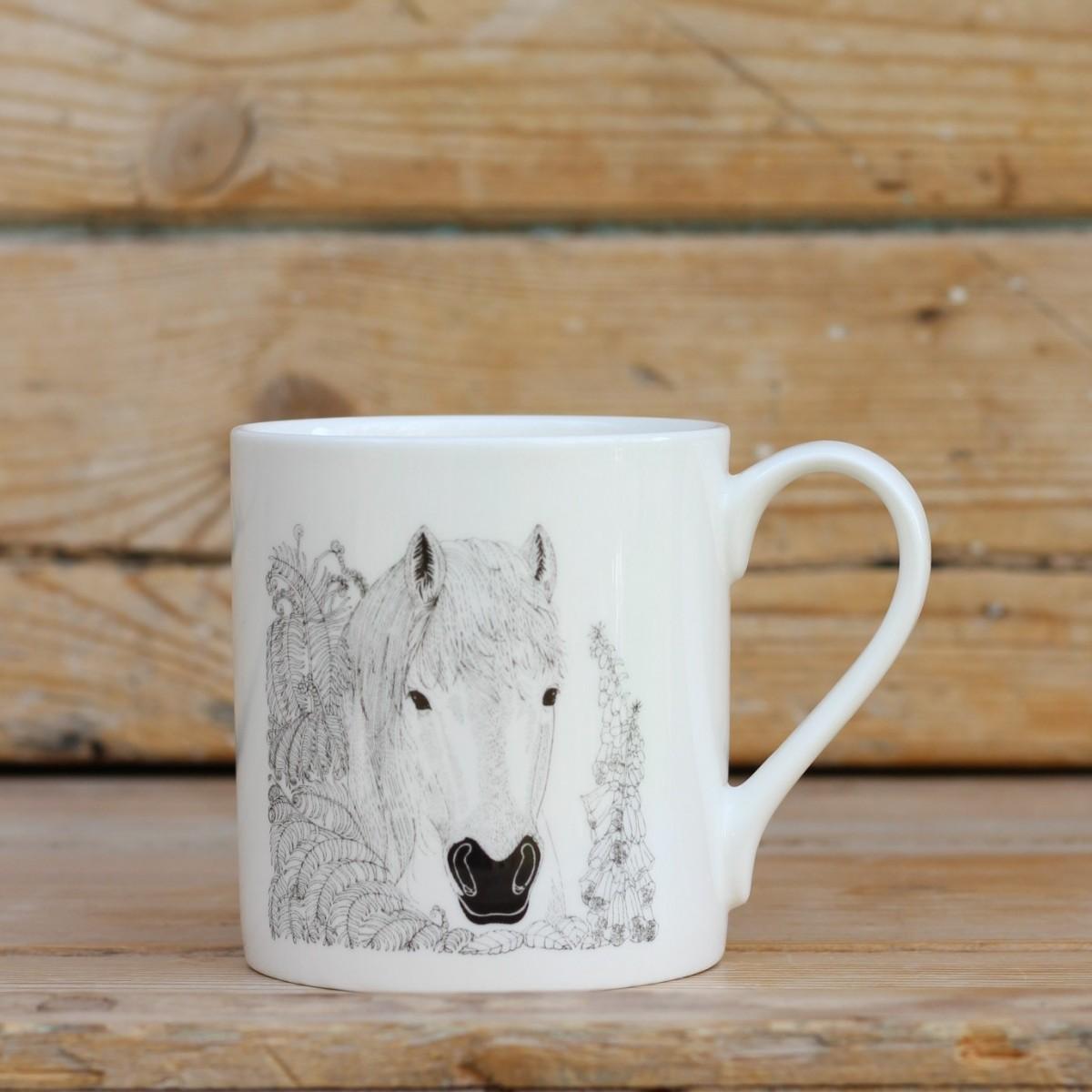 Horse Bone China Mug