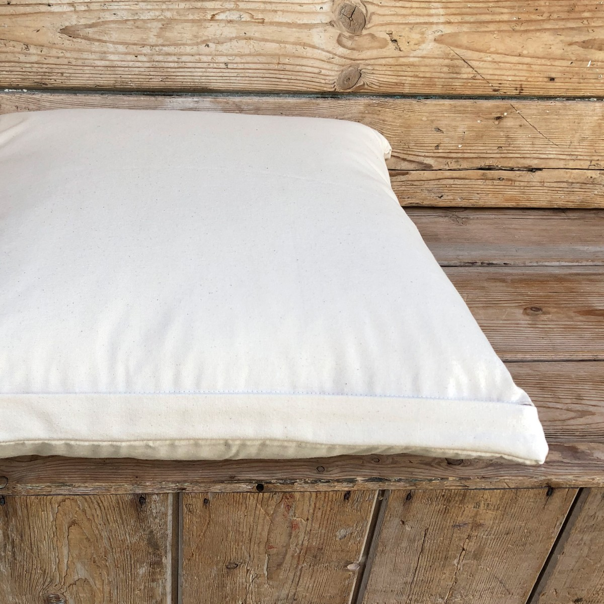 Concealed Zip Canvas Cushion Cover