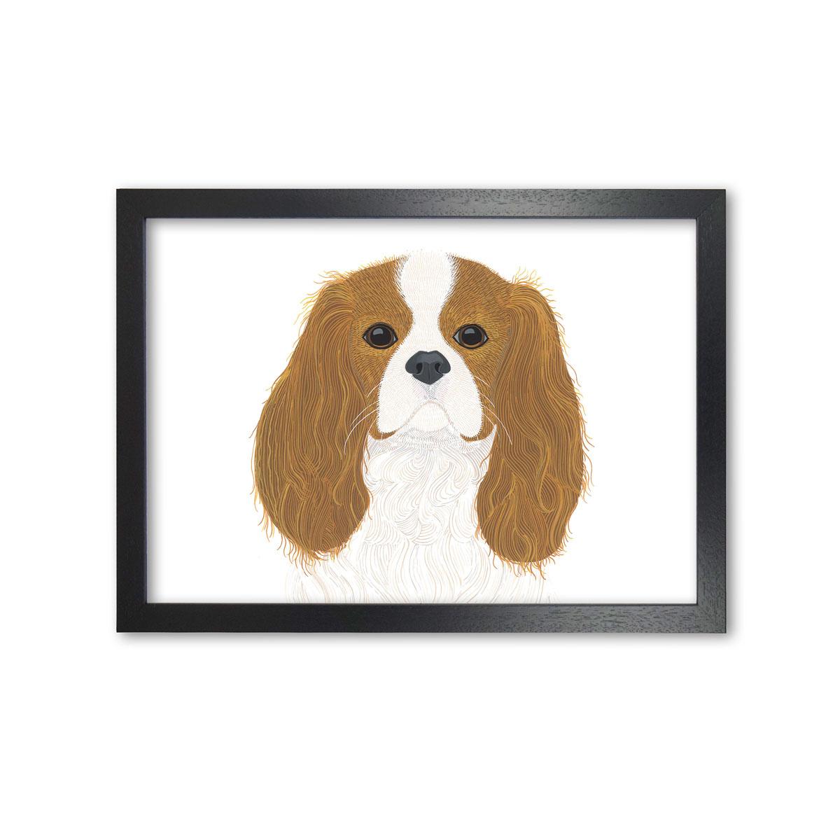 Cavalier King Charles Spaniel Dog Art Print By Bird The Artist