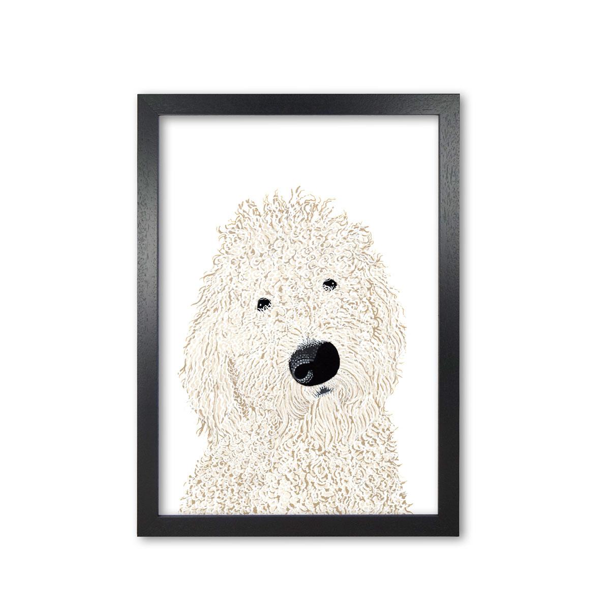 Labrddodle Dog Art Print by Bird The Artist