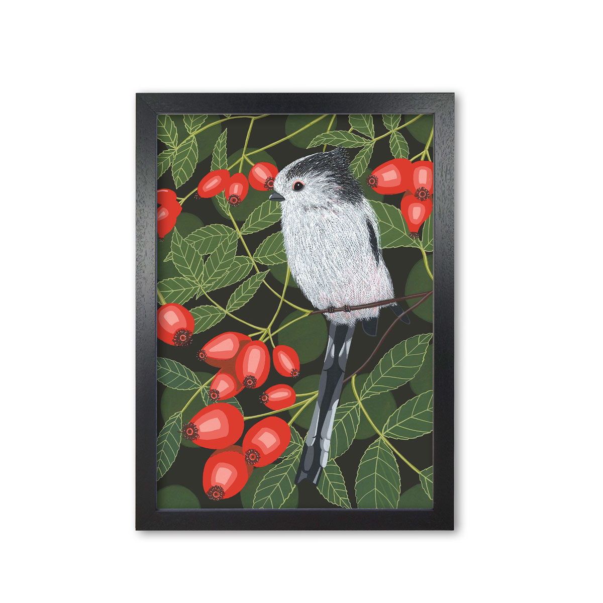 Long Tailed Tit Garden Bird Mounted And Framed Print