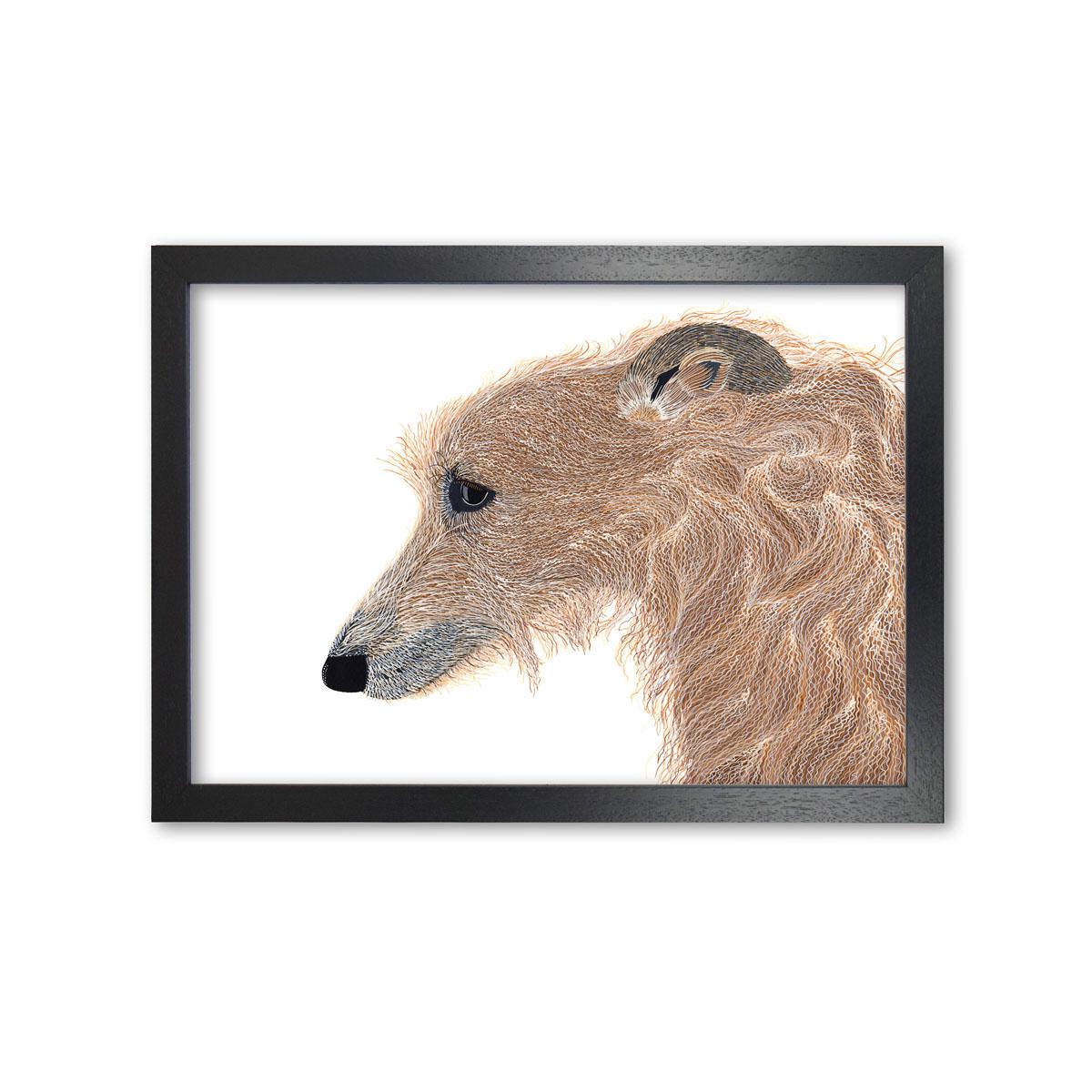 Lurcher Dog Print Art Print By Bird The Artist