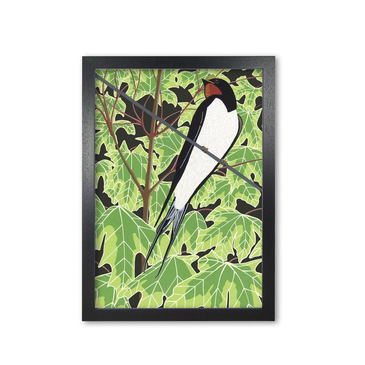 Swallow Garden Bird Mounted And Framed Print