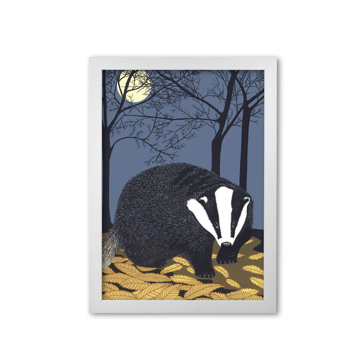 Badger Art Print Mounted And Framed Print