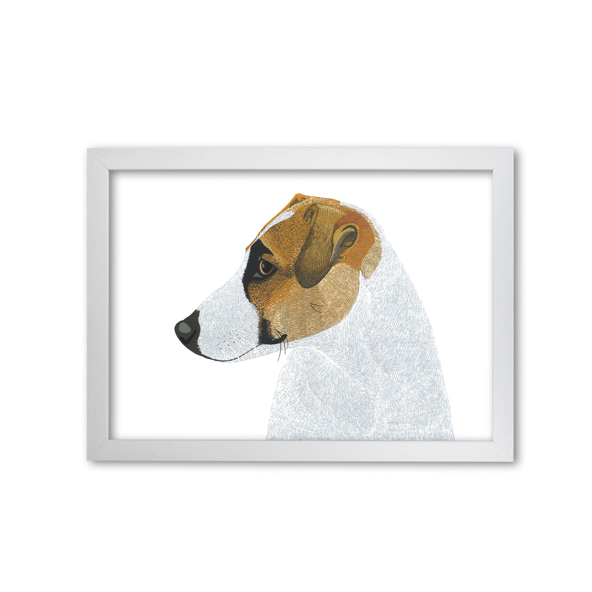 Jack Russell Dog Art Print By Bird The Artist