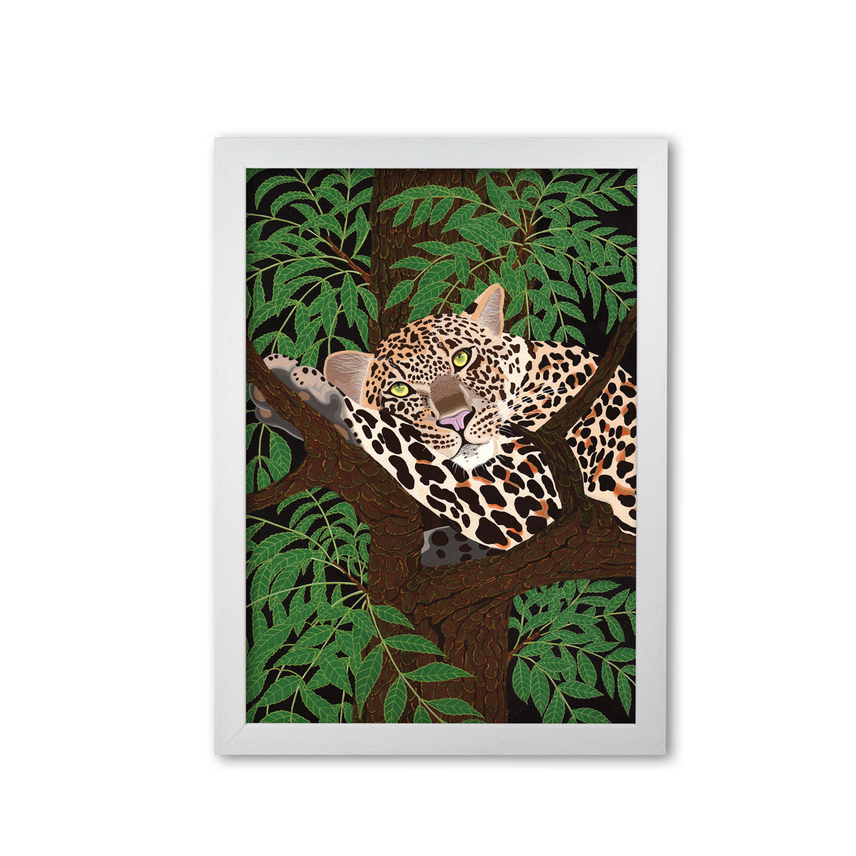 Leopard Art Print Mounted And Framed By Bird The Artist