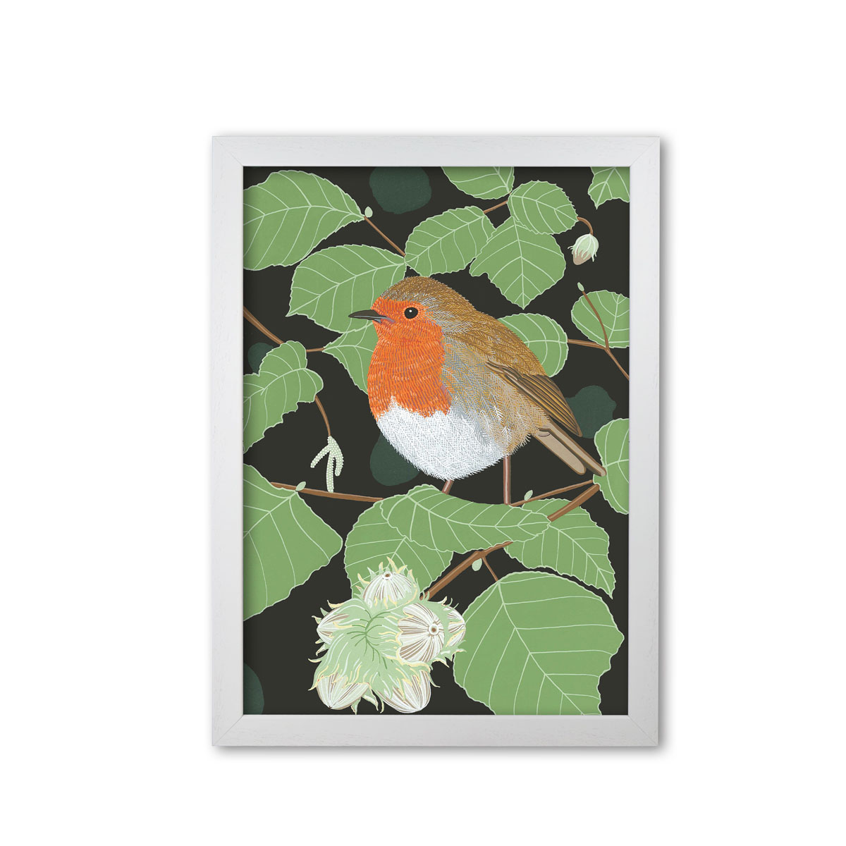 Robin Garden Bird Mounted And Framed Print
