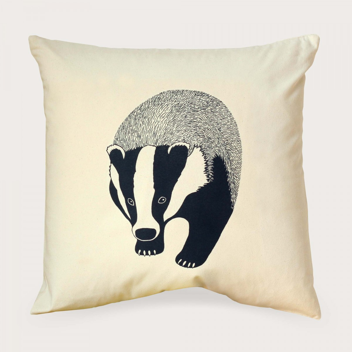 Badger Natural Cotton Canvas Square Cushion Cover