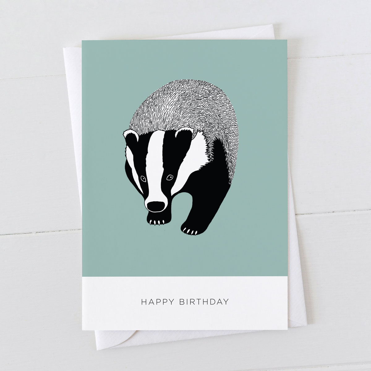 Badger Happy Birthday Greeting Card