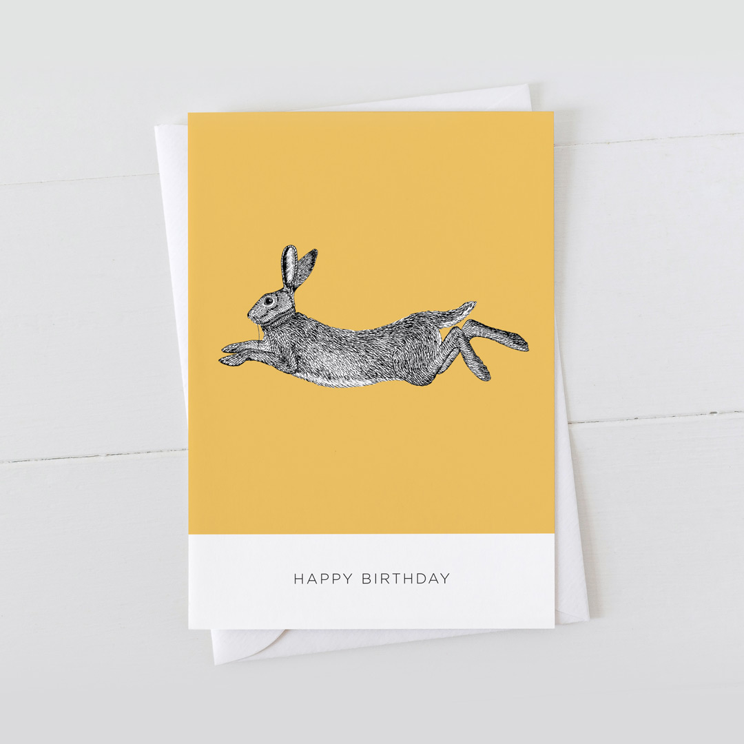 7x5 Card Hare Occasion
