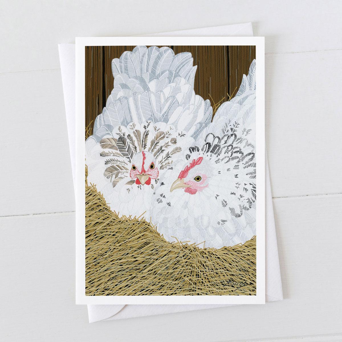 Bantams Chicken Hens Hen Greeting Card