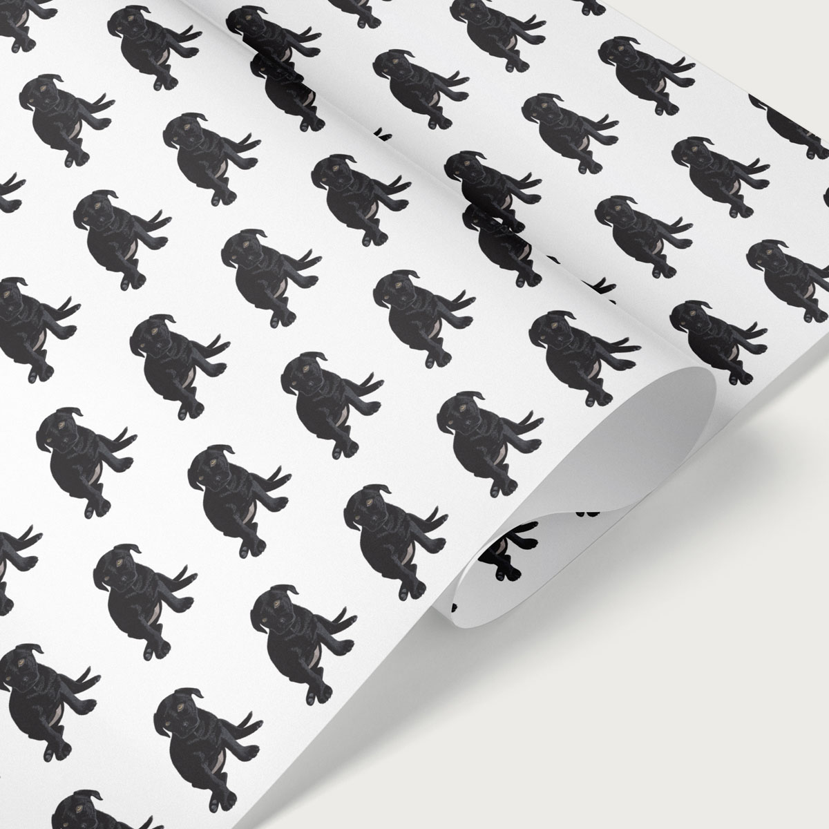 Black Labrador Puppy Dog Gift Wrap