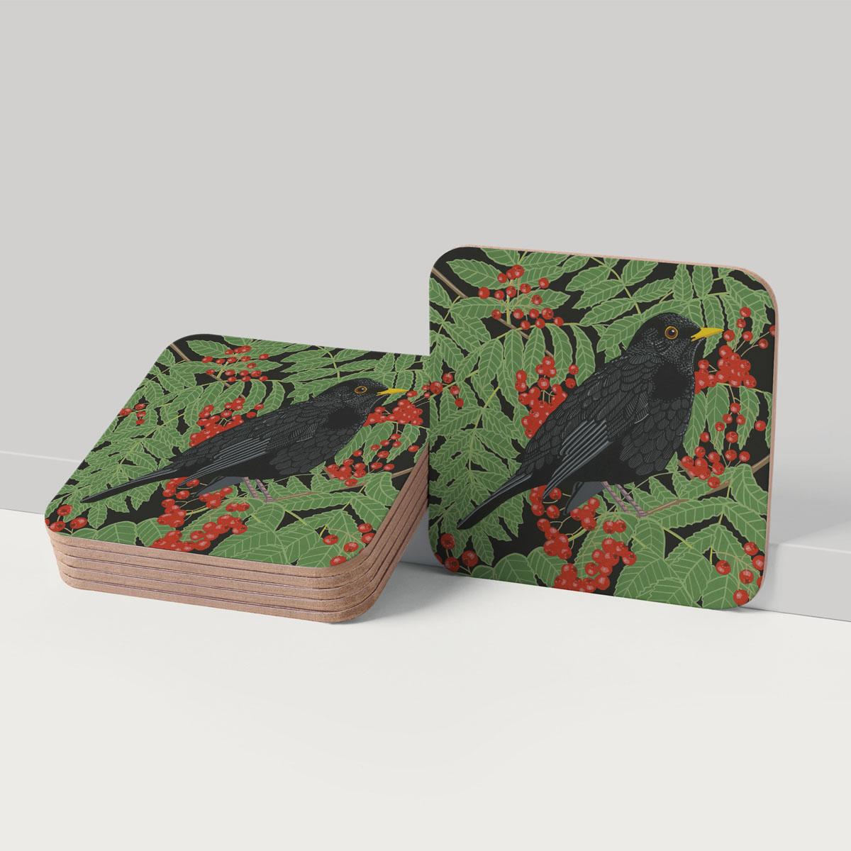 Blackbird Coaster Placemat Tableware