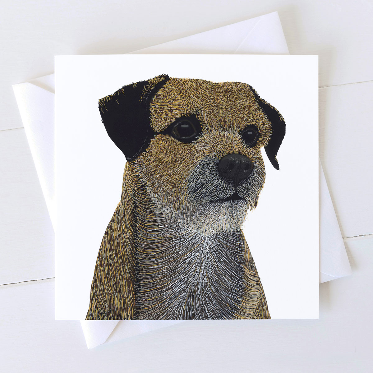 Border Terrier Dog Square Greeting Card