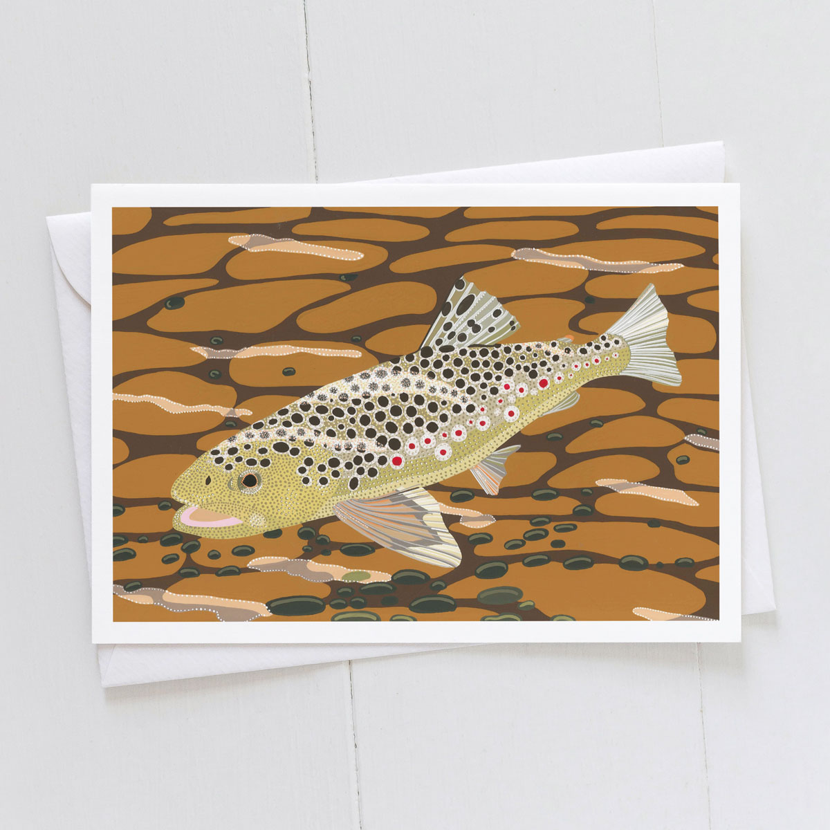 Brown Trout Fish Greeting Card