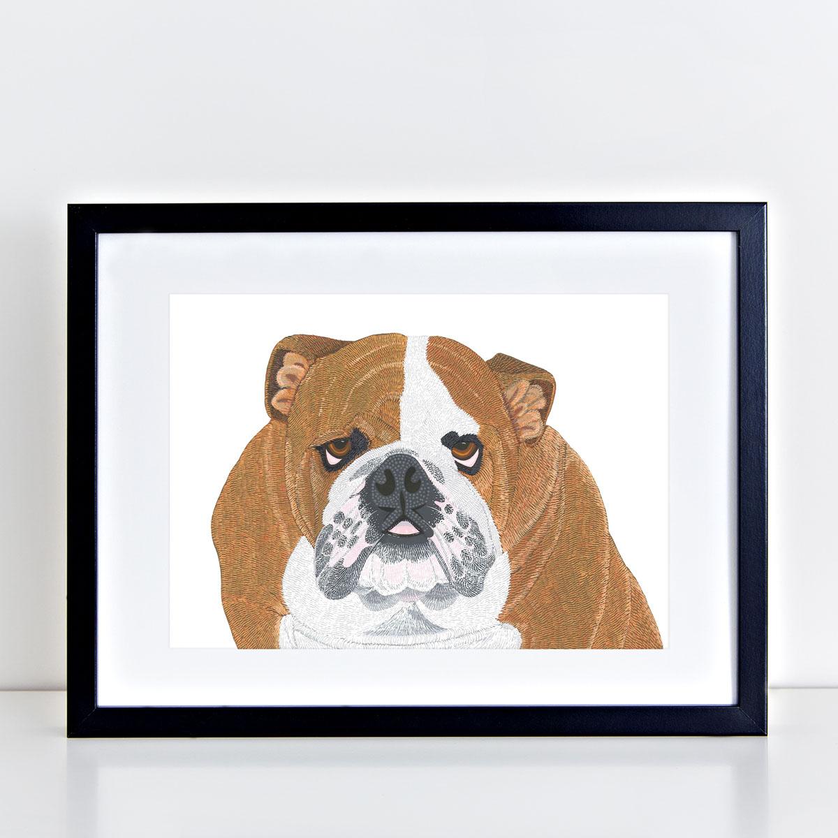Bulldog Dog Art Print By Bird