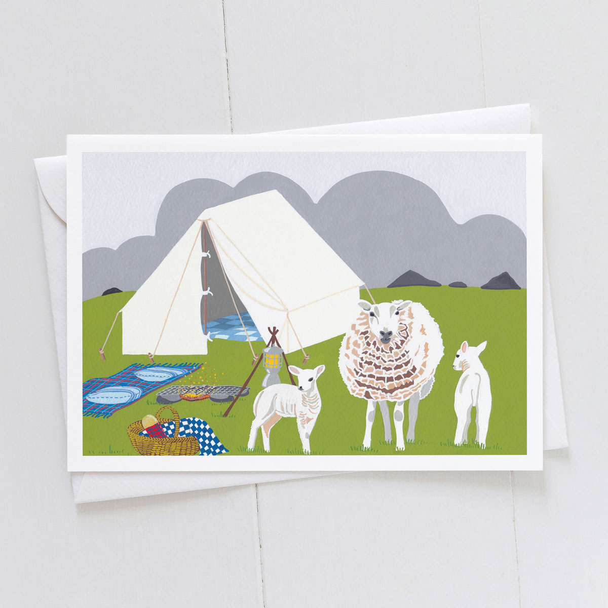Camping Trip On A Farm Greeting Card